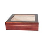 20 Count Cherry Glass Top Humidor with Humidifier