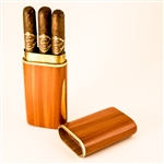 Cedar 3 Cigar Presidente Travel Case
