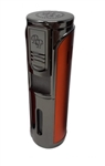 Rocky Patel Envoy 5 Torch Lighter with Plus Cutter - Gunmetal and Orange