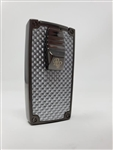 Rocky Patel Double Flame Nero Lighter - Flat Gunmetal and Silver Carbon Fiber Plate