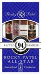 Rocky Patel All Star 4 Toro Cigar Freshness Pack Sampler (Includes 1 of Each: Fifty- Five, Fifty, Olde World Reserve Maduro, Twentieth Anniversary Natural)