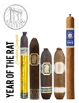 Rare Drew Estate 5 Cigar Sampler **Limit 2 Person** (Includes 1 of Each: Liga Privada Year of the Rat, Undercrown Shady XX, Undercrown Flying Pig, Undercrown Connecticut Flying Pig, and Numero Uno Lonsdale)