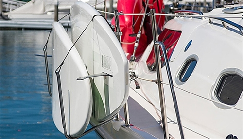 SUP/Kayak Rail Mounted Storage Rack for Boats, Sailboats, Yachts