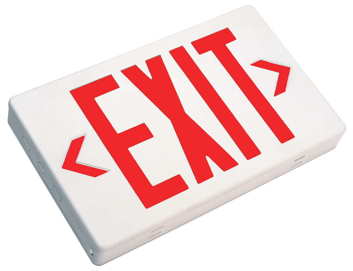 NICOR 18200 Thermoplastic LED Exit Sign View Larger Photo