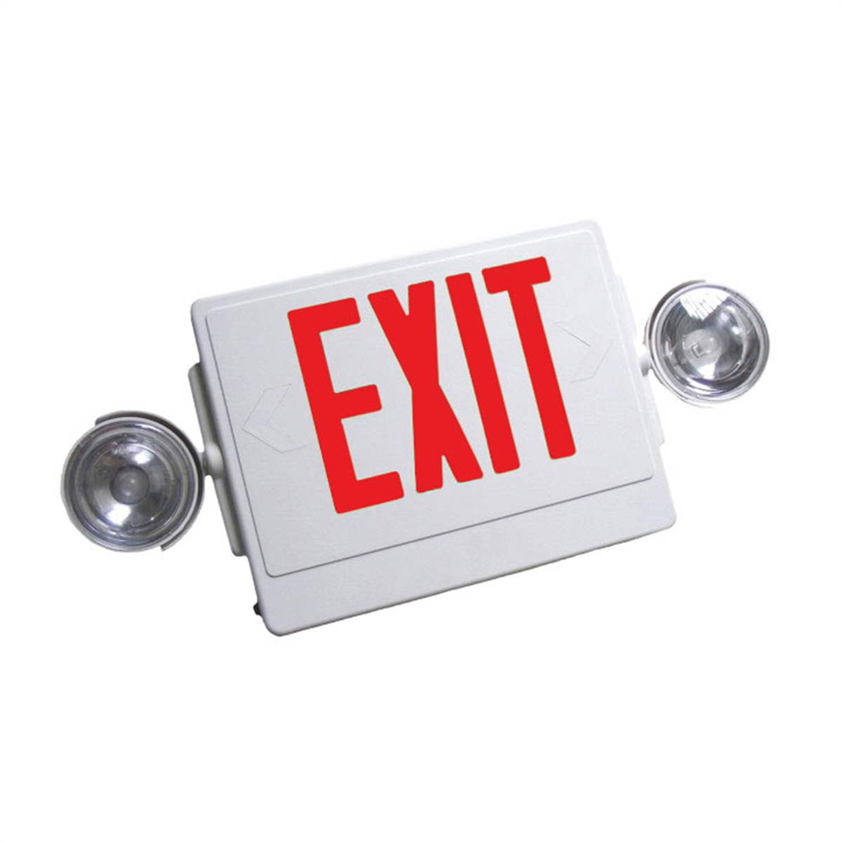 NICOR 18201 Thermoplastic LED Exit Sign Combo with Emergency Lights View  Larger Photo