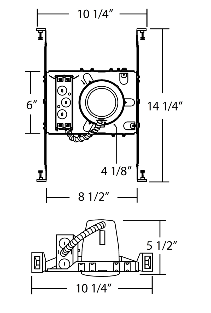 nicor 19000a led id 4 airtight housing for new construction rh lightexpertsdirect com Residential Electrical Wiring Diagrams UL 924 Wiring-Diagram