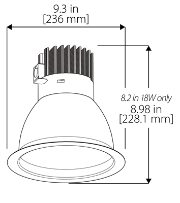 Nicor Cdr8 Sn Commercial Led Downlight