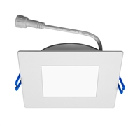 "NICOR DLE42120SQWH Square Edge Lit 4"" LED Downlight"