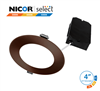 NICOR DLE43120SRD 4 in. Oil-Rubbed Bronze Selectable Edge Lit LED Downlight