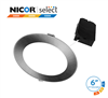 NICOR DLE63120SRD 6 in. Nickel Selectable Edge Lit LED Downlight