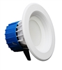 NICOR DLR4-3006-120-WH-BF Recessed LED Downlight with Baffle