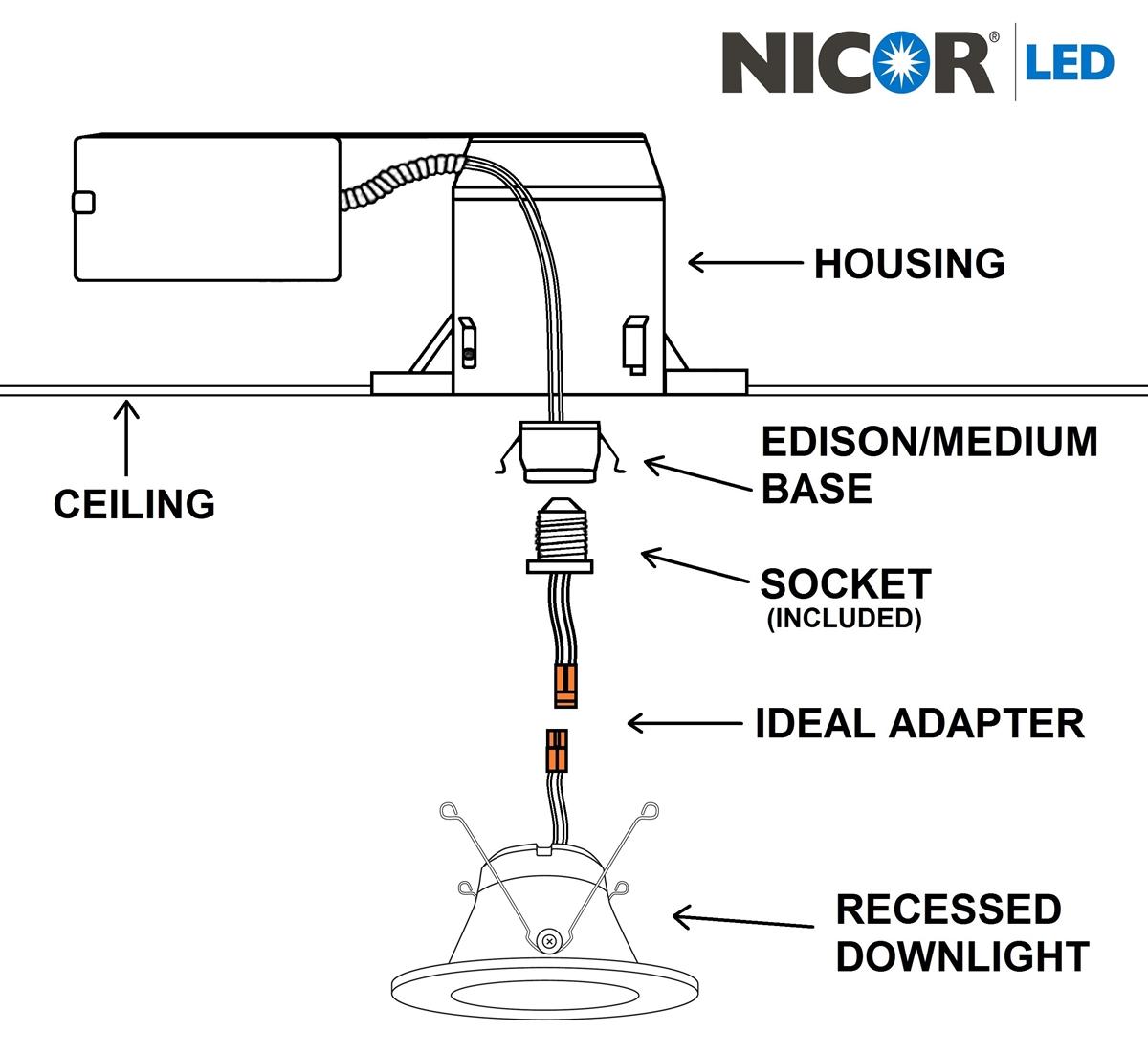 nicor dlr56 3008 recessed led downlight rh lightexpertsdirect com UL 924 Wiring-Diagram Emergency Lighting Wiring Diagram