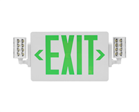 NICOR ECL21UNVWHG2 Slim LED Emergency Exit Sign Combo, Green Lettering