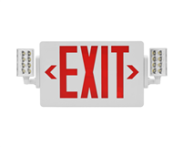 NICOR ECL21UNVWHR2 Slim LED Emergency Exit Sign Combo, Red Lettering