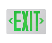 NICOR EXL41UNVWHG2 LED Emergency Exit Sign, Green Lettering