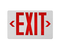 NICOR EXL41UNVWHR2 LED Emergency Exit Sign, Red Lettering