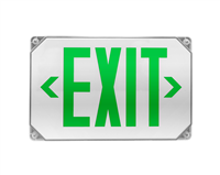 NICOR EXL51UNVWHG2 LED Outdoor Emergency Exit Sign, Green Lettering