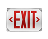 NICOR EXL51UNVWHR2 LED Outdoor Emergency Exit Sign, Red Lettering