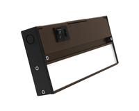 NICOR NUC-5 Series 8-inch Oil-Rubbed Bronze Selectable LED Under Cabinet Light
