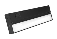 NICOR NUC-5 Series 12-inch Black Selectable LED Under Cabinet Light