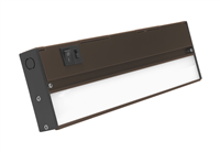 NICOR NUC-5 Series 12-inch Oil-Rubbed Bronze Selectable LED Under Cabinet Light