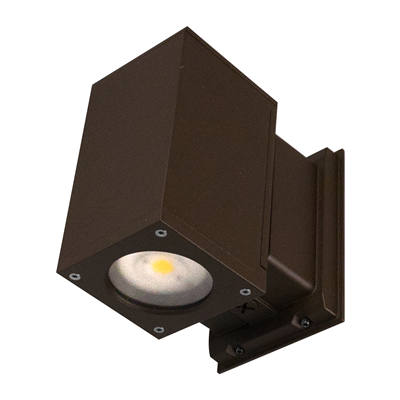 Dorado 22W Square LED Outdoor Wall Mount Cylinder Light, Bronze