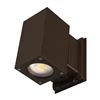 Dorado 33W Square LED Outdoor Wall Mount Cylinder Up/Down Light, Bronze