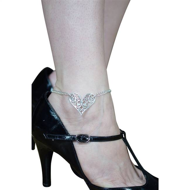 sterling silver foot fetish anklet
