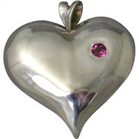 Love you heart pendant