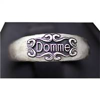 silver domme ring