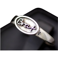 sterling silver ring for brats