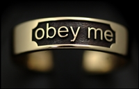 Obey me ring in gold