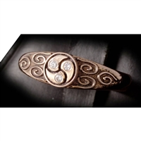 gold and diamond triskelion ring