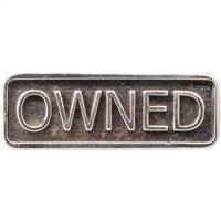 OWNED silver BDSM lifestyle ring