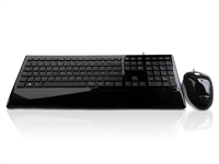 KYB-IMAGE-UBKBK - Accuratus Image Set - USB Slim Full Size Keyboard & Mouse with Piano Black Glossy Finish