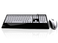 KYB-IMAGE-UBKWH - Accuratus Image Set - USB Slim Full Size Keyboard & Mouse with Piano Black Glossy Finish