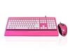 KYB-IMAGE-UPINWH - Accuratus Image Set - USB Slim Full Size Keyboard & Mouse with Piano Pink Glossy Finish