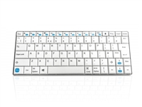 KYB-MAXIMUS-W-UK - Accuratus Maximus - Mini Layout Multi Device Wireless Bluetooth® Keyboard with Scissor Keys