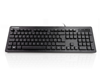 KYB-MED-AQUA-UB - Accuratus AccuMed AQUA - USB 105 Key Antibacterial & Fully Washable IP68 Medical / Clinical Keyboard