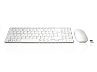 KYB-MINIMUSX-RFW - Accuratus Minimus X - Minamalist Ultra Sleek Wireless RF 2.4GHz Keyboard & Mouse Set