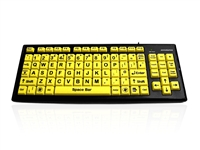 KYB-MON2VIS-UCUH - Accuratus Monster 2 - USB High Visibility Vision Impairment Keyboard with Extra Large Keys & 2 Port USB Hub