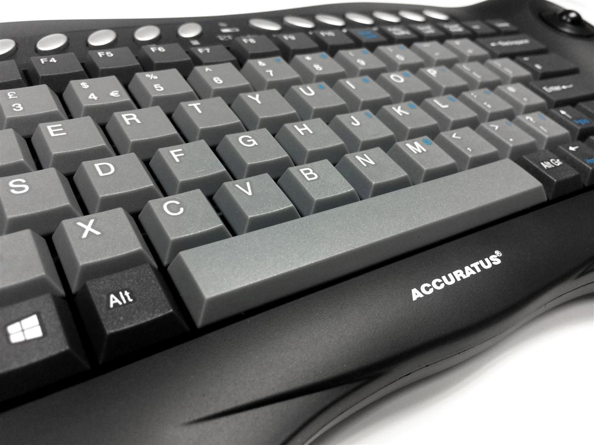 Accuratus Toughball 2 - Wireless 2 4GHz Multimedia Mini Keyboard with  Trackball