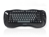 KYB-TOUGHBALL2DK  - Accuratus Toughball 2 Danish - Wireless 2.4GHz Multimedia Mini Keyboard with Trackball, Danish Layout Via Durable Stickers