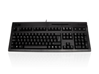 KYB500-104MPS2BK - Accuratus K104M - PS/2 Professional Full Size Keyboard with Programmable MSR and Cherry MX Keys