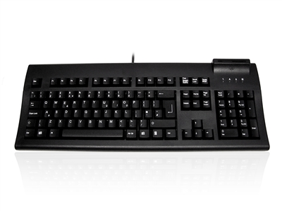 KYB500-107BUSB - Accuratus K107B - USB Professional Full Size Landing Contact Smart Card Keyboard