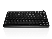 KYB500-K82E-BLK - Accuratus K82E - USB Ruggedised Mini IP65 Keyboard with Backlit Red Keys