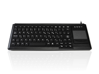 KYB500-K82F-UBLK - Accuratus K82F - USB Ruggedised Mini IP55 Keyboard with Touchpad