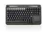 KYB500-S109C-MTU - Accuratus S109C - USB Compact QWERTY & Programmable POS Keyboard with MSR and Touchpad