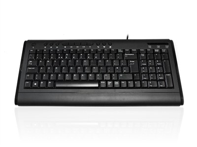 KYBAC2200-USBBLK - Accuratus 2200 - USB Compact Size Multimedia Keyboard with Gloss Black Styling