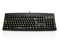 KYBAC260-HIVISUP - Accuratus 260 High Visibility - USB Full Size High Visibility Professional Keyboard with Contoured Full Height Touch Typing Keys & Patented One Touch Euro Key
